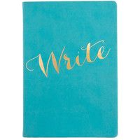 """Write"" Gold and Turquoise Journal"