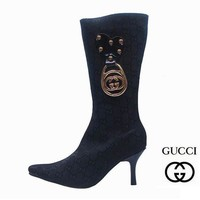 One-nice™ GUCCI Women Fashion Pointed Toe Stiletto High Boot Flats Shoes