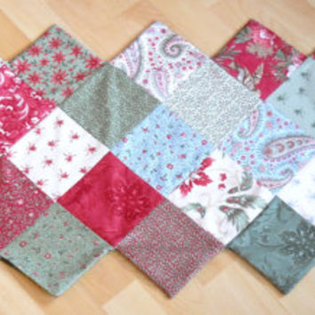 ZigZag Tablerunner, Colourful patchwork table linen