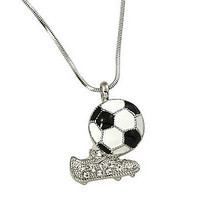 *[N/L]-Soccer Ball & Cleats Pendant Necklace