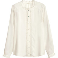H&M Blouse with Lace Trim $14.99