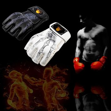 MMA Fight Boxing half finger Sparring Gloves
