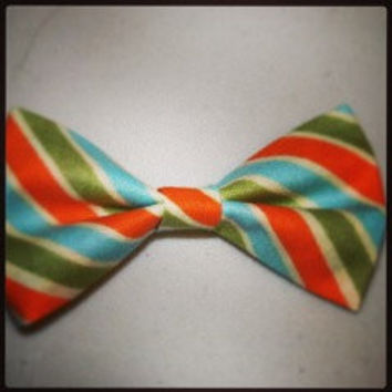 Green, Blue and Orange Hair Bow