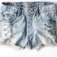 AEO Women's Vintage Hi-rise Shortie (Light Destroy Wash)