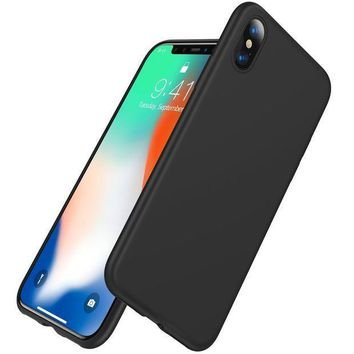 Iphone X Case Vanmass 0.5mm Ultra Thin Slim Fit Full Protective Iphone 10 Shell With Super Soft Tpu Material And Anti Scratch Matte Back Cover Case For Iphone X   Black