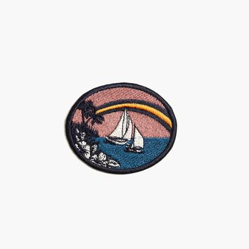 Embroidered Tropical Souvenir Sticker Patch : | Madewell