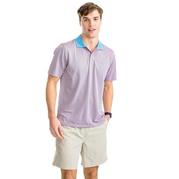 Fort Frederik Stripe Performance Pique Polo Shirt by Southern Tide