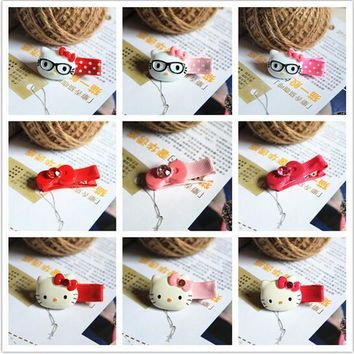 New Arrival styling tools Cute Hello Kitty Bow hairpin headwear hair accessories for women girl children make you fashion