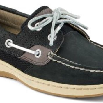 Sperry Top-Sider Bluefish Quilted 2-Eye Boat Shoe Black, Size 6.5M  Women's Shoes
