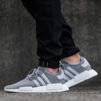 Best Online Sale Adidas NMD R1 PK SOLID GREY S31503 Boost Sport Running Shoes Classic Casual Shoes Sneakers