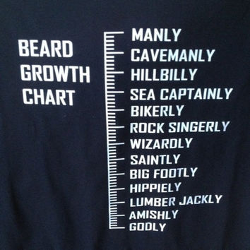 Beard growth chart shirt, fun shirt, funny shirt, long beards