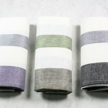 Two-Tone Linen Dish Towel