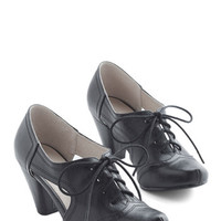 Chelsea Crew Film Noir Cheerful Steam Ahead Heel in Black