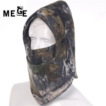 MEGE Brand Comouflage Winter Full Face Fleece Cover Warm Anti-dust Windproof Cycling Hiking Face Mask Snowboard Thermal