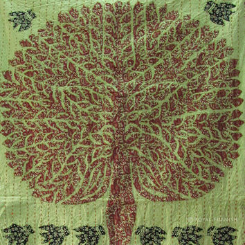 """36x57"""" Indian TREE OF LIFE Wall hanging Tapestry Runner Indian Vintage Decor Ethnic Decorative Art"""