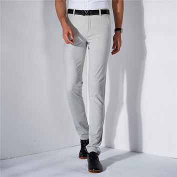 Summer Men Casual Men's Fashion Slim Stretch Pants [6541361859]