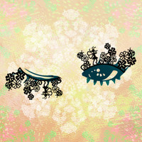 "Paper False Eyelashes ""FOUR LEAF CLOVER"" by kawaii matsuge in Japan /y002"