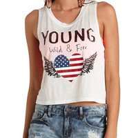 AMERICANA GRAPHIC SWING CROP TOP
