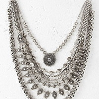 Layered Chain Statement Necklace