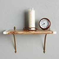 Marble-Edged Shelf by Anthropologie