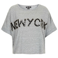 New York Embellished Tee - New In This Week - New In - Topshop USA