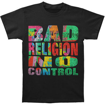 Bad Religion Men's  No Control T-shirt Black Rockabilia