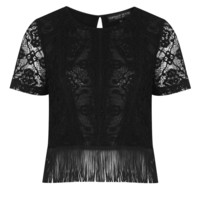 Petite Lace Fringe Top - New In This Week - New In - Topshop
