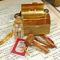 Vampire Slaying Kit Necklace With Everything You Need to Kill a Vampire