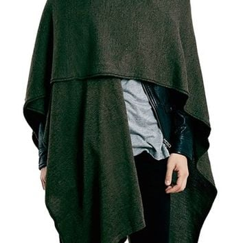 Men's Topman Wrap Knit Cape - Green