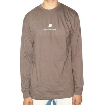 ONETOW Undefeated Officially Licensed Product Long Sleeve Tee In Brown