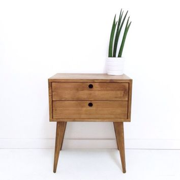 Bedside Table with 2 Drawers, Bedside Drawers, Side Table, Nightstand, End Table, Mid-century modern Table, Scandinavian Table
