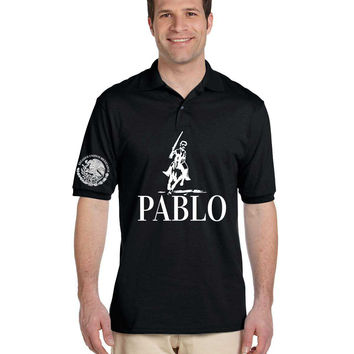 Men's Polo Shirt Pablo Escobar Unidos Mexicanos Cool Tee