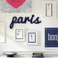 Paris Wood Word Decor