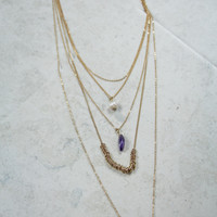 Jinglin' Gems Layered Necklace in Gold