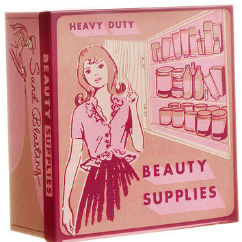 Retro Beauty Supplies Makeup Storage Box