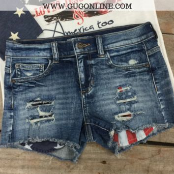 Country Roads Americana Denim Shorts