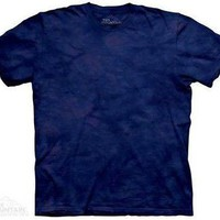 Lapis S2 Solid Color Blue Tie Dye T-Shirt