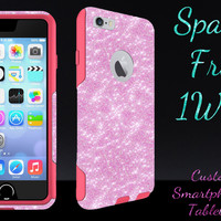 """OtterBox Commuter Series Case for 4.7"""" iPhone 6 - Custom Glitter Case for 4.7"""" iPhone 6 - Light Pink/Pink"""