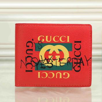 GUCCI Men Fashion Purse Wallet