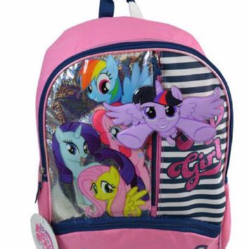 "New Grils Hasbro My Little Pony ""Adventure Awesome ""16"" Cargo Backpack"