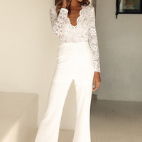Made For A Moment Jumpsuit White