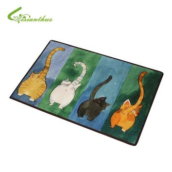 Cute Cats and Kittens Non-Slip Mats (5 sizes, 4 patterns)