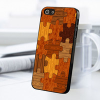 Wood Puzzle Jigsaw iPhone 5 Or 5S Case
