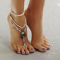 Free People Womens Macrame Anklet