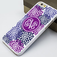 iphone 6 case,purple flower iphone 6 plus case,monogram iphone 5s case,art flower iphone 5c case,vivid flower iphone 5 case,peony iphone 4s case,girl's gift iphone 4 case