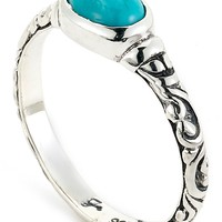 Samuel B Jewelry | Sterling Silver Oval-Cut Sleeping Beauty Turquoise Ring | Nordstrom Rack