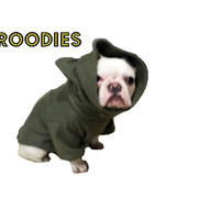 French Bulldog Boston Terrier FROODIES HOODIES USA Camo Olive Green Fleece Sweatshirt Jacket Coat