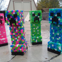 3d Perler Minecraft Creeper by VixianLove on Etsy