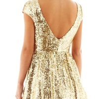 Be Smart Sequin Skater Dress
