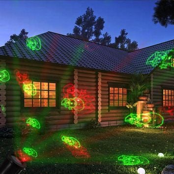 4 Patterns Laser Star Light Showers Effect Remote motion light IP65 Waterproof Outdoor Garden Christmas Decorative Lamp